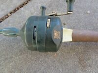 Vintage Zebco Combo 202 Green Spincasting Reel and Centennial 4020 Rod U.S.A
