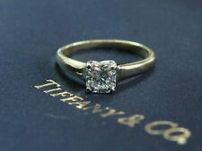 Tiffany & Co 18KT Lucida Diamond Engagement Yellow Gold Ring G/VVS1 .62Ct
