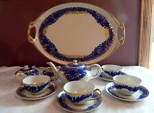 ROSENTHAL Designer Guldbransen ROSARI - TEA SERVICE SET for FOUR + HANDLED TRAY