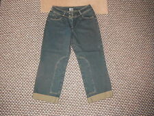 """Simply The Best Cropped Turn Ups Size 12 Leg 24"""" Faded Dark Blue Ladies Jeans"""