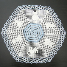 Special Order! Cats, Hand Crocheted Doily, 605