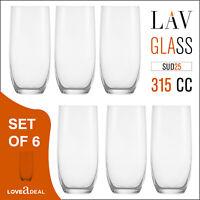 6 x Tumbler SUDE25 Drinking Water Whisky Glasses Hi Ball Juice Wine Glass 315cc