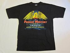 FREDDIE MERCURY  :  ORIGINAL 1992 TRIBUTE CONCERT WEMBLEY T-SHIRT QUEEN (MINT)