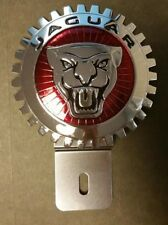Jaguar  Accessory Grille Badge License Plate Topper,  A Great Gift Item, New