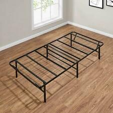 """14"""" High Profile Foldable Steel Bed Frame, Powder-coated Steel, Various Sizes"""