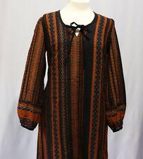Vintage Fabric Peasant Dress Ethnic Boho Full Sleeves