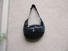 Authentic Coach Black Fabric And Leather Shoulder Bag