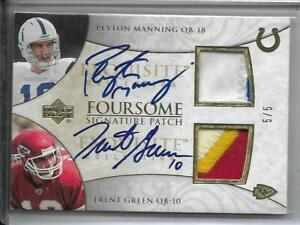 2006 UD PEYTON MANNING TRENT GREEN CLEMENS WHITEHURST JERSEY AUTOGRAPH #D5/5