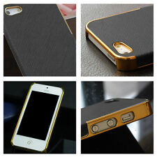 Black Gold Frame Premium Protctive Hard Back Case Cover For iPhone 5 5S Perfect