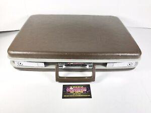 Vintage Samsonite Hardshell Travel Luggage Suitcase Briefcase Brown No Key Nice!