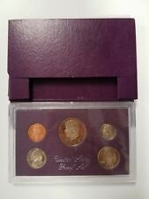 PS0585BMCX US MINT 1985 PROOF COIN SET 5 PC CAMEO FINISH BASE METAL OGP!
