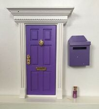 Purple Wooden Fairy Door with Magic Mail Box-Magic Key-Fairy Dust +2 Bonus Gifts