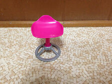 2009 Barbie Doll House Furniture Pink Beauty Hair Salon Doctor Stool Chair