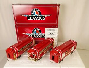 LIONEL CLASSICS #6-13400--#323-324-325 SET OF 3 STD. GAUGE RED PASS. CARS-MIB!