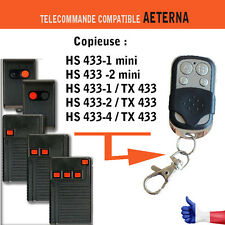 Télécommande clone AETERNA HS 433 mini  TX433  1,2 et 4 boutons Bip copie garage
