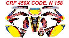 N 158 HONDA CRF 450X 2005-2014 Autocollants Déco Graphics Stickers Decals Kit