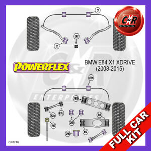 Fits BMW E84 X1 xDrive (2008-2015)  Powerflex Complete Bush Kit