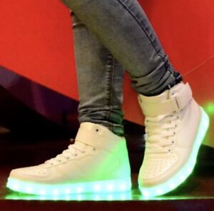 HIGH TOP Led Light Up Shoes Unisex Men and Women Sizes Available