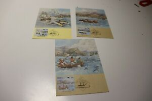 1987 THE FIRST FLEET TENERIFFE  STAMP  MAXI CARDS SET OF 3