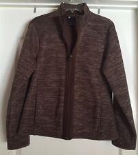 Carole Little Women's Brown  Full Zip Fleece Jacket, Size XL