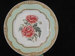 Sadek Winterthur President Polk's Florals Dinner Plate Poppies Flowers