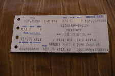 TICKET ERIC CLAPTON  1988 USA