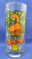Twelve Days Of Christmas 6th Day Indiana 2350 Drinking Glass Tumbler 12 oz.