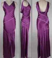 New sz 4 Valentino mainline purple silk bias cut out long dress gown $4795