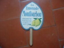 Antique Fan Advertising Lemonade Montbarbon