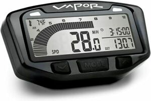 Trail Tech 752-110 Black Vapor Digital Speedometer Tachometer Gauge Kit