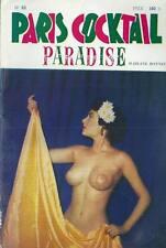 Paris Cocktail Paradise # 63 - 1957 Pin up érotisme photo charme nue curiosa