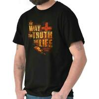 Jesus Way Truth Life Christian Religious Short Sleeve T-Shirt Tees Tshirts