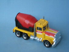 Matchbox Peterbilt Cement Mixer Truck Yellow and Red Pace Construction Toy Car