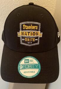 Pittsburgh Steelers Unite Hat - New Era 9Forty. Men's Hook/Loop Adjustable.