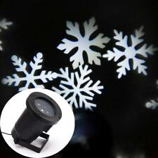 Animated White Snow Shower Projector Christmas Moving LED Snowflake Light Show