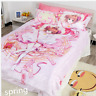 4Pcs Anime Card Captor KINOMOTO SAKURA Cover Bed Sheet Pillowcase Bedding Set