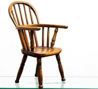 Antique 19th Century Child's Children's Stick Back Windsor Chair - Doll / Teddy