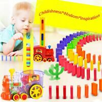 Domino Train Toys Automatic Put Out Dominoes Kids Children Educational Gifts