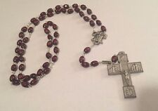 Ghirelli Rosary + Antique Silver + Italian Wood Beads
