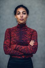 Kenzo x H&M Wool Leopard Stripe Turtle Neck sweater size US-2
