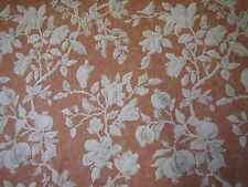 """SANDERSON CURTAIN FABRIC """"Magnolia & Pomegranate"""" 2.5 METRES RUSSET AND WHEAT"""
