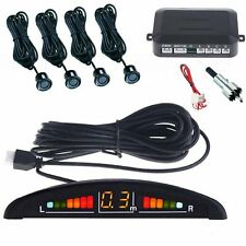 Kit 4 Sensori Di Parcheggio Neri Per Auto Con Display Suono Led Acustico