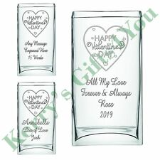 Personlaised Engraved Glass Vase - Valentines Gift For Her Wife Girlfriend Gift