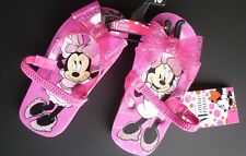 58319eb5e12 Disney Minnie Mouse Sandals Toddler Girls Size XL 11-12 Pink Flip Flops