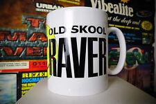 Old Skool Raver Mug / Cup Coffee Tea Clubbing Dj Rave Retro Dance Smiley Face