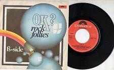 ROCK FOLLIES disco 45 ITALY 77 OK + B SIDE Julie Covington CHARLOTTE CORNWELL