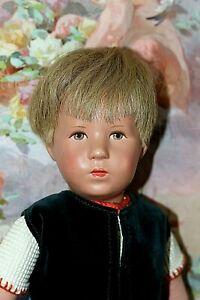 KÄTHE KRUSE Puppe Junge, 1960er Jahre, Kunststoffkopf 50 cm