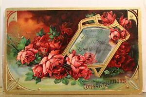 Greetings Congratulations Postcard Old Vintage Card View Standard Souvenir Post