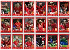 Manchester United European Champions League winners 2008 football trading cards