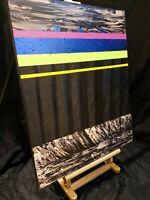 Peinture tableau, art abstrait. huile sur toile, format 50/60 cm